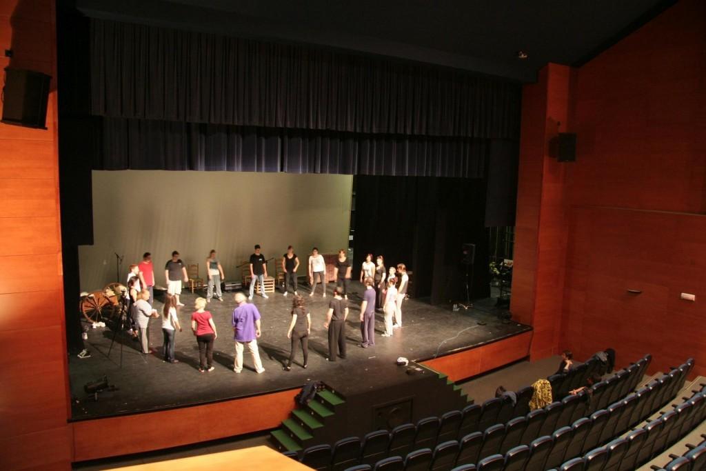 19.5.12@La Rinconada - workshop hosted in the theatre of Casa de Cultura (culture h
