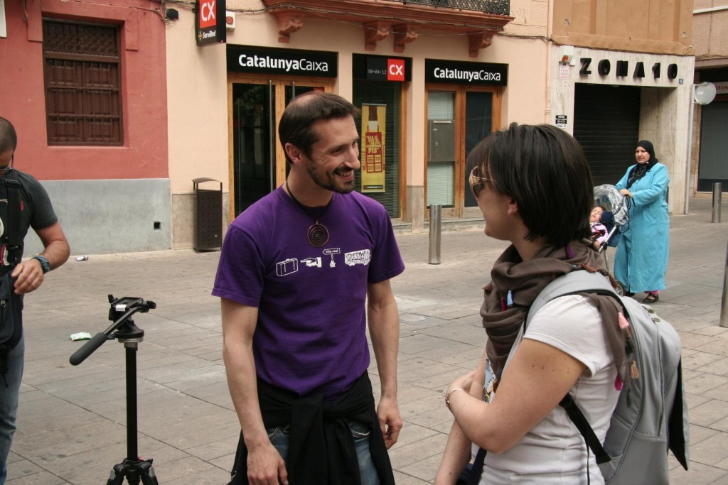 30.4.12@VilaReal - first meeting with Pau Ayet,art director of Festival Internacional de Carrer